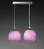 Tisva Purple Glass & Steel Angelico Pendant