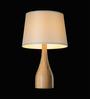 Tisva White Fabric J'Aime Table Lamp