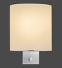 Tisva White Mild Steel & Glass Chiaro Wall Light