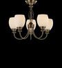 Tisva White Steel & Glass Viscaria Chandelier