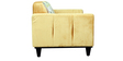 Topaz Two Seater Sofa in Floral Yellow by Sofab