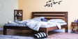 Dallas King Size Bed in Provincial Teak Finish by Woodsworth