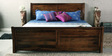 Toston Roca Queen Bed with Storage in Provincial Teak Finish by Woodsworth