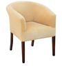 Toby Tub Chair in Caramel Colour Fabric & Walnut Finish by Inliving