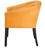 Toby Tub Chair in Mango Colour Fabric & Walnut Finish by Inliving