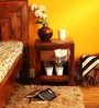 Illinois Bed Side Table in Provincial Teak Finish by Woodsworth
