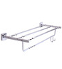 KRM Decor Topaz Silver Brass 24.6 x 5.5 x 9 Inch Towel Rack