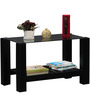 Winona Glass Top Coffee Table in Espresso Walnut Finish by Woodsworth