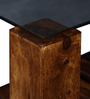 Winona Glass Top Coffee Table in Provincial Teak Finish by Woodsworth
