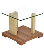 Tortoni Side Table in Walnut Finish by @home