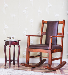 Loxton Rocking Chair in Honey Oak Finish by Amberville