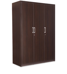 Triton Four Door Wardrobe in Brown Matte Finish by Durian