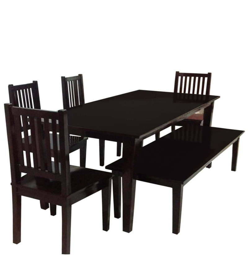 transitional six seater dining set with shaker. Black Bedroom Furniture Sets. Home Design Ideas