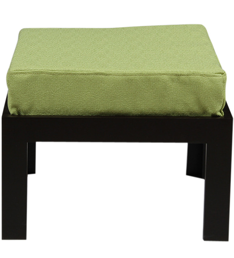 Buy Trendy Coffee Table With Two Green Cushioned Stools By Arra Online Rectangle Coffee Table