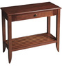 Transitional Console with Shallow Drawer in Brown Color by Afydecor
