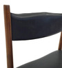 Transitional Wooden Dining Chair with Box Stretchers in Black Colour by Afydecor