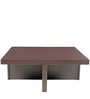 Trendy Coffee Table Set with Four Stools in Rust Lines Colour by ARRA