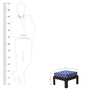 Trendy Coffee Table with Four Stools in Damask Finish by ARRA