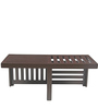 Trendy Coffee table with Two Stools in Damask Finish by ARRA