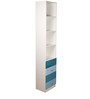 Trendy Space Saving Large-Sized Vertical Book Shelf in Blue Colour by Child Space
