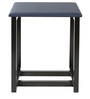 Trento End Table in Dark Blue Matte Finish by Inscape Design