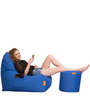 Triangle Bean Bag (XXL) & Puffy Combo (Without Beans) by Orka