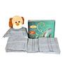 Trident Grey Cotton Towel Gift Kit- Set of 4