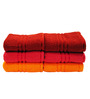 Trident Multicolor Cotton Hand Towel - Set of 6