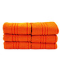 Trident Orange Cotton Hand Towel - Set of 6