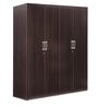 Triton Three Door Wardrobe in Brown Matte Finish by Durian