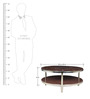 Troy Glass Top Centre Table in Brown Colour by HomeTown