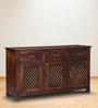 Trydelt Three Door Sideboard in Provincial Teak Finish by Amberville