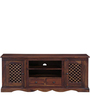 Trydelt Big Entertainment Unit in Provincial Teak Finish by Amberville