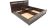 Tulip King Bed with Top Storage in Dark Walnut Finish by Crystal furnitech