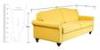 Turin Three Seater Sofa in Yellow color by Forzza