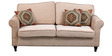 Turin Two seater sofa Light Brown by Forzza