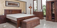 Tuscany Queen Size Bed in Warm Rich Finish by Inliving