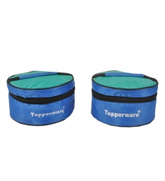 Tupperware Plastic Classic Lunch  Box With Insulated Bag - Set Of 2