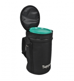 Tupperware Plastic Executive Lunch Box (Insulated Bag - Black)