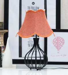 Tu Casa Pyramid Red Jute Lamp Shade