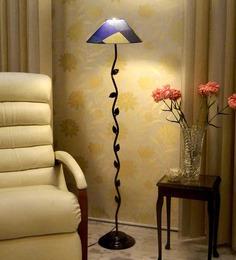 Tu Casa Leaf Design Floor Lamp With Bright Printed Shade Metal Floor Lamp