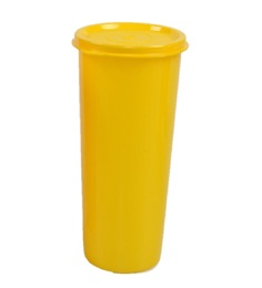 Tupperware Jumbo Yellow Plastic Tumbler with lid - Set of 6