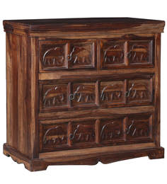 Tuskar Chest of Four Drawers in Walnut Finish by HomeTown