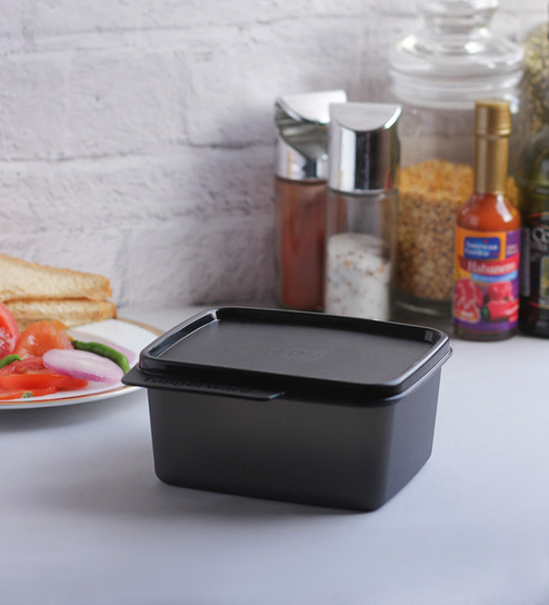 Buy tupperware keep tab small black 500 ml storage for Decor 500ml container