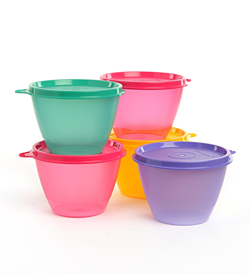 Buy Tupperware Bowled Over Multicolor Conical Shape