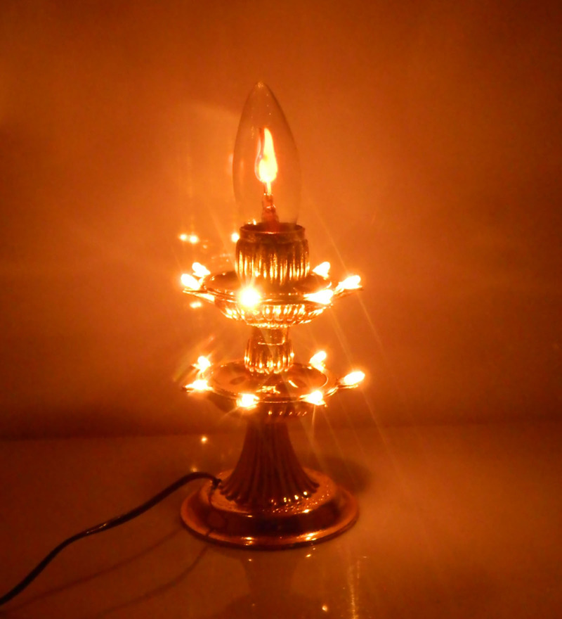 Tu Casa Golden Plastic Fliker Electric Diya  available at Pepperfry for Rs.399
