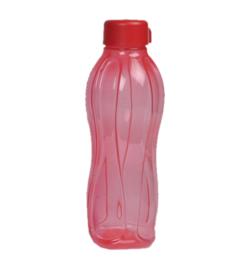 Tupperware Red Round Plastic 1000 ML Bottle - Set of 2  available at Pepperfry for Rs.399