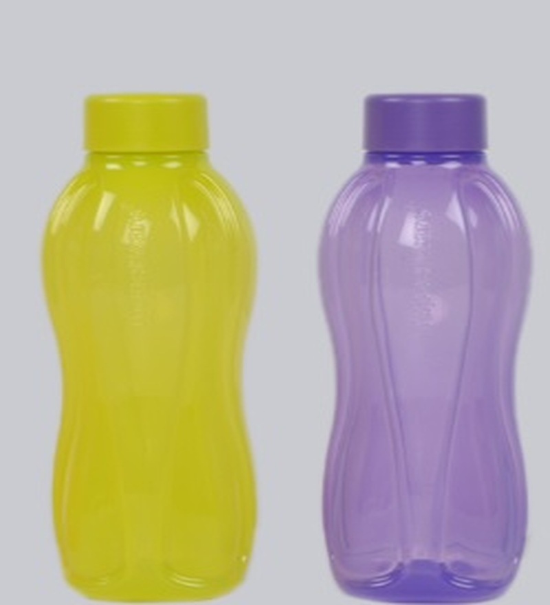Tupperware Purple and Yellow Plastic Round 1 L Bottle - Set of 4  available at Pepperfry for Rs.809