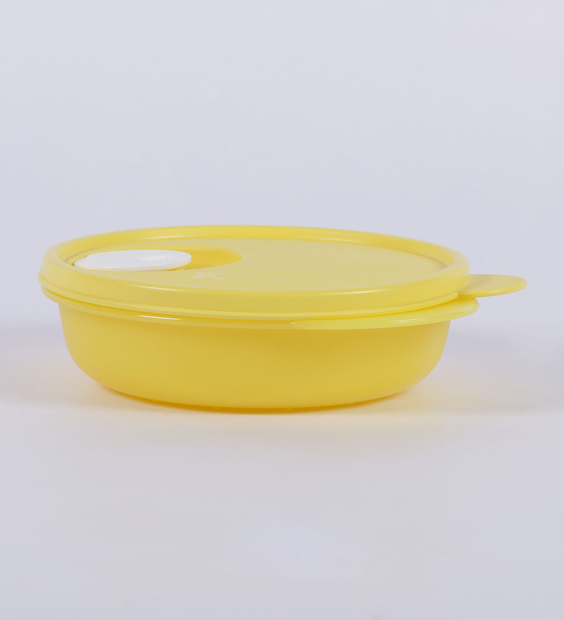 Tupperware Crsytal Wave Yellow Plastic 400 Airtight Container - set of 3  available at Pepperfry for Rs.729