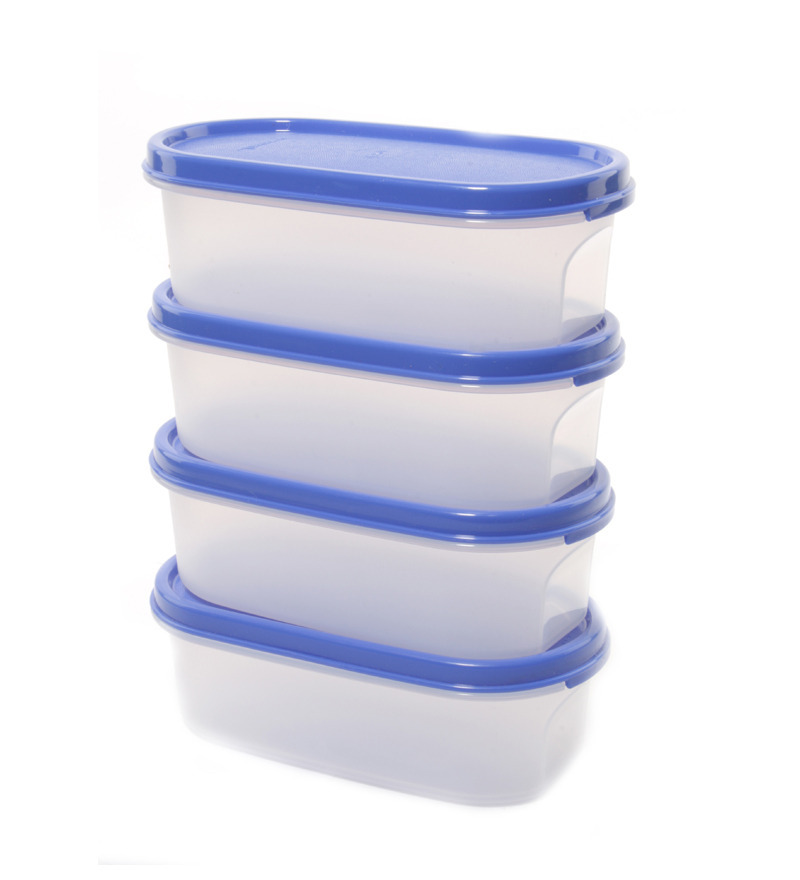 Tupperware mm oval 4 pcs container set 500ml by for Decor 500ml container